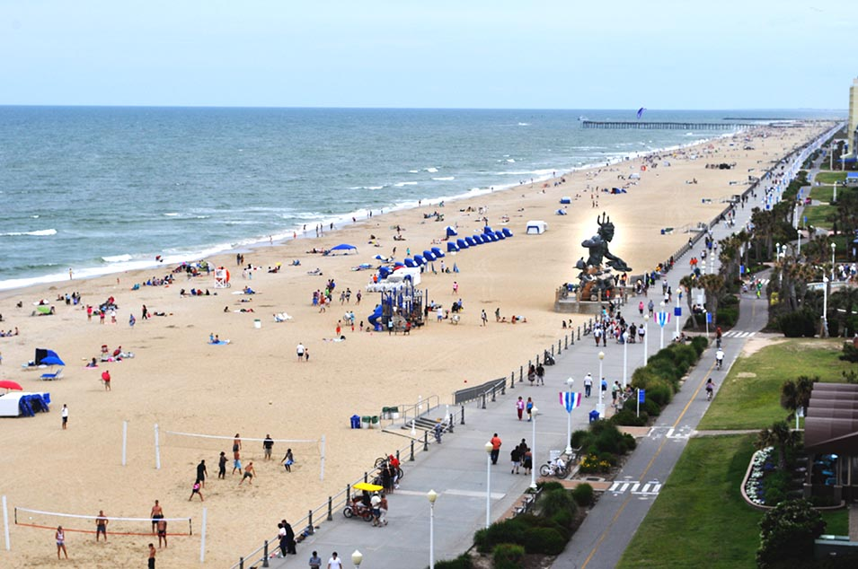 Virginia Beach looking south
