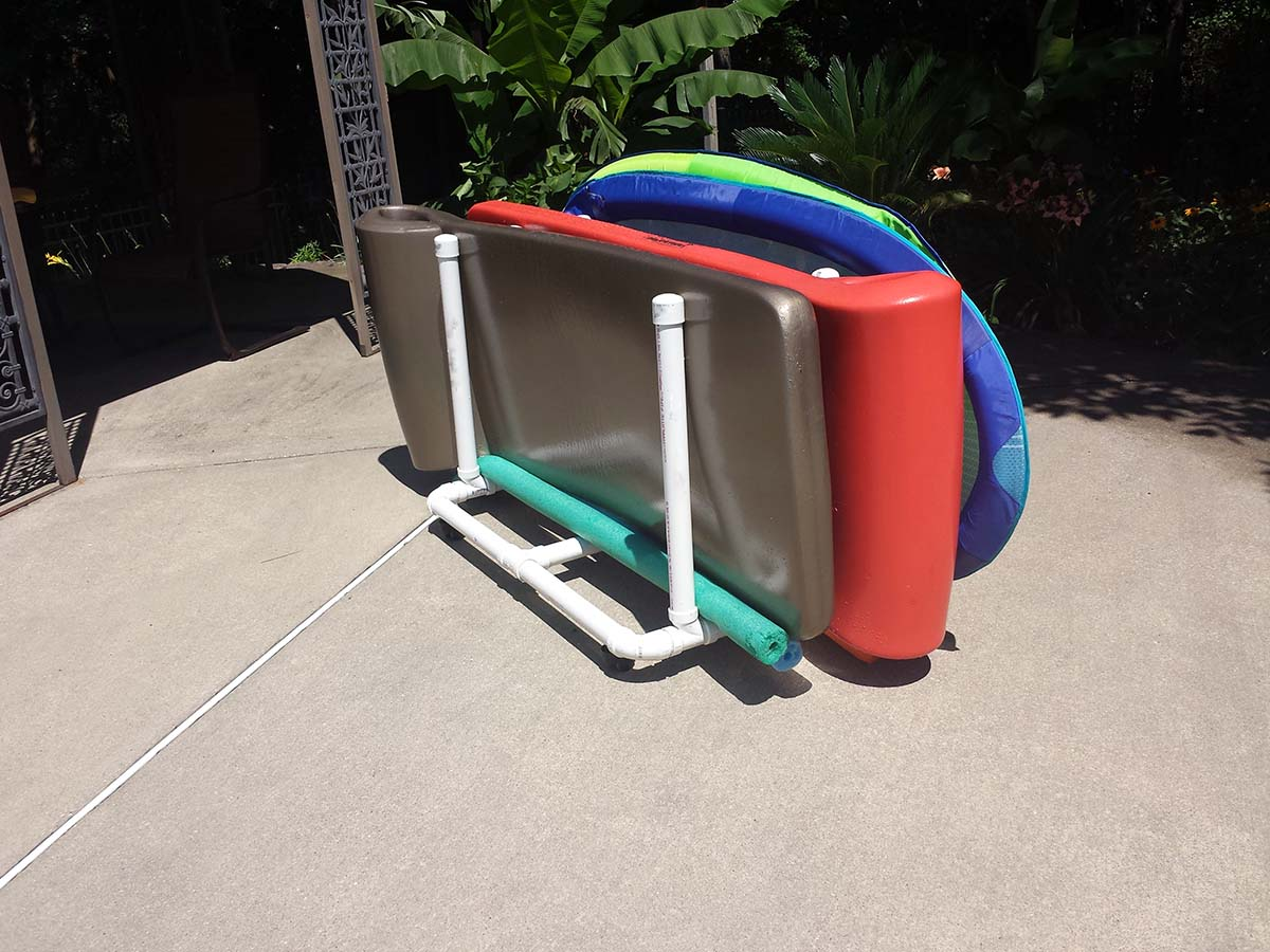 Pool Floats Storage Random Thoughts And Photos