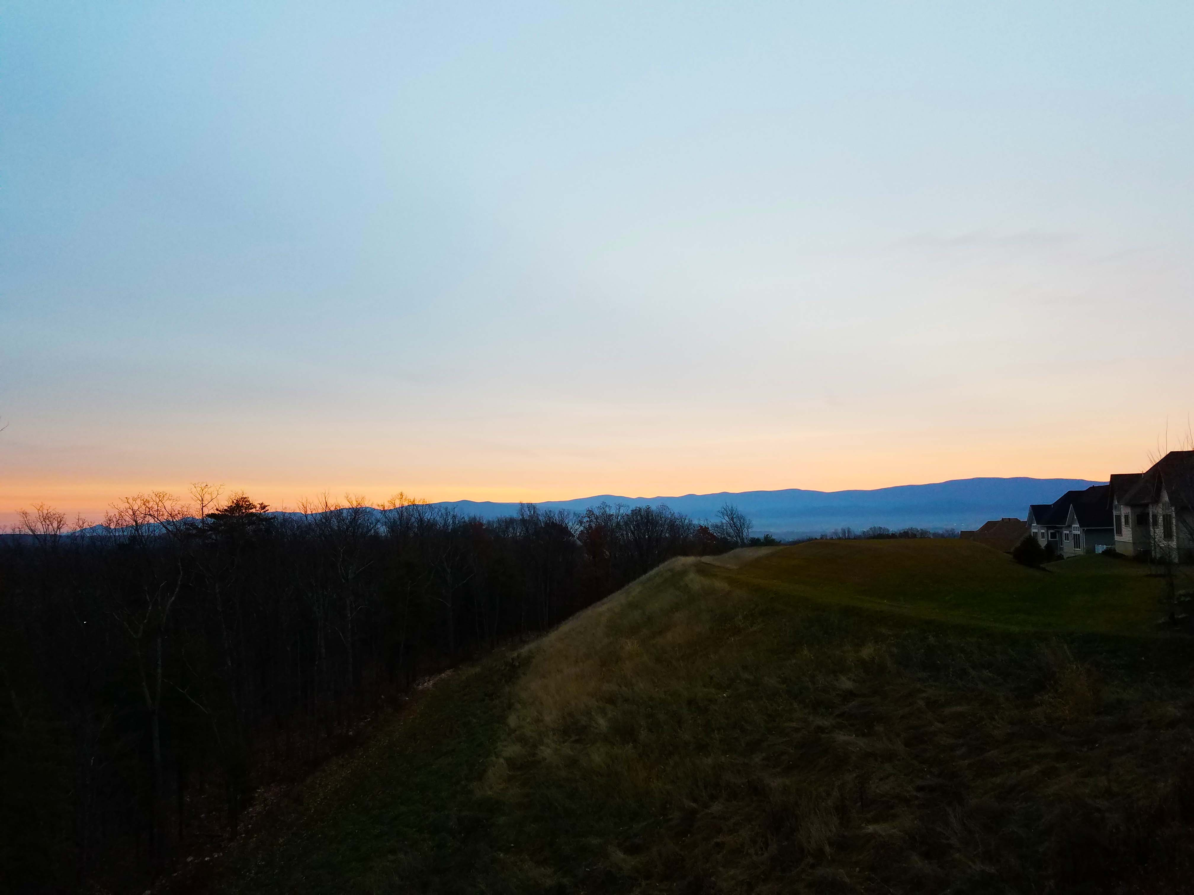 sunset blue ridge