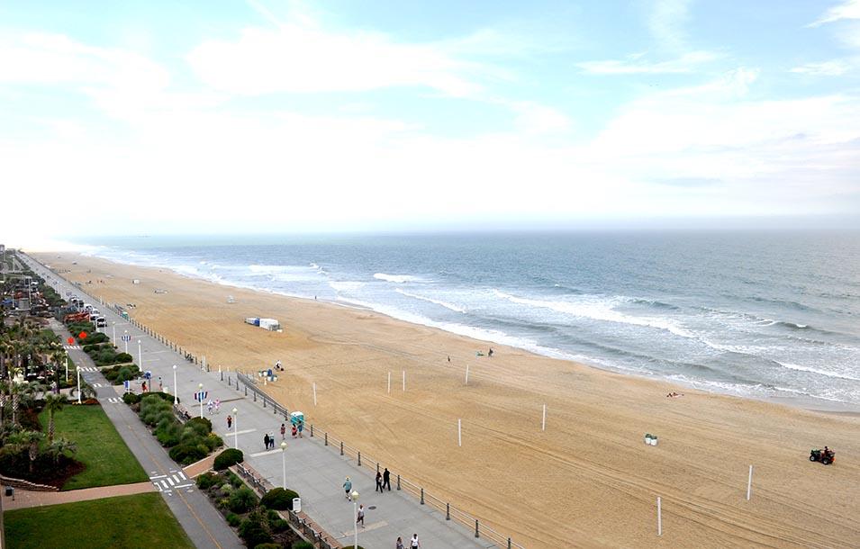 Virginia Beach looking north